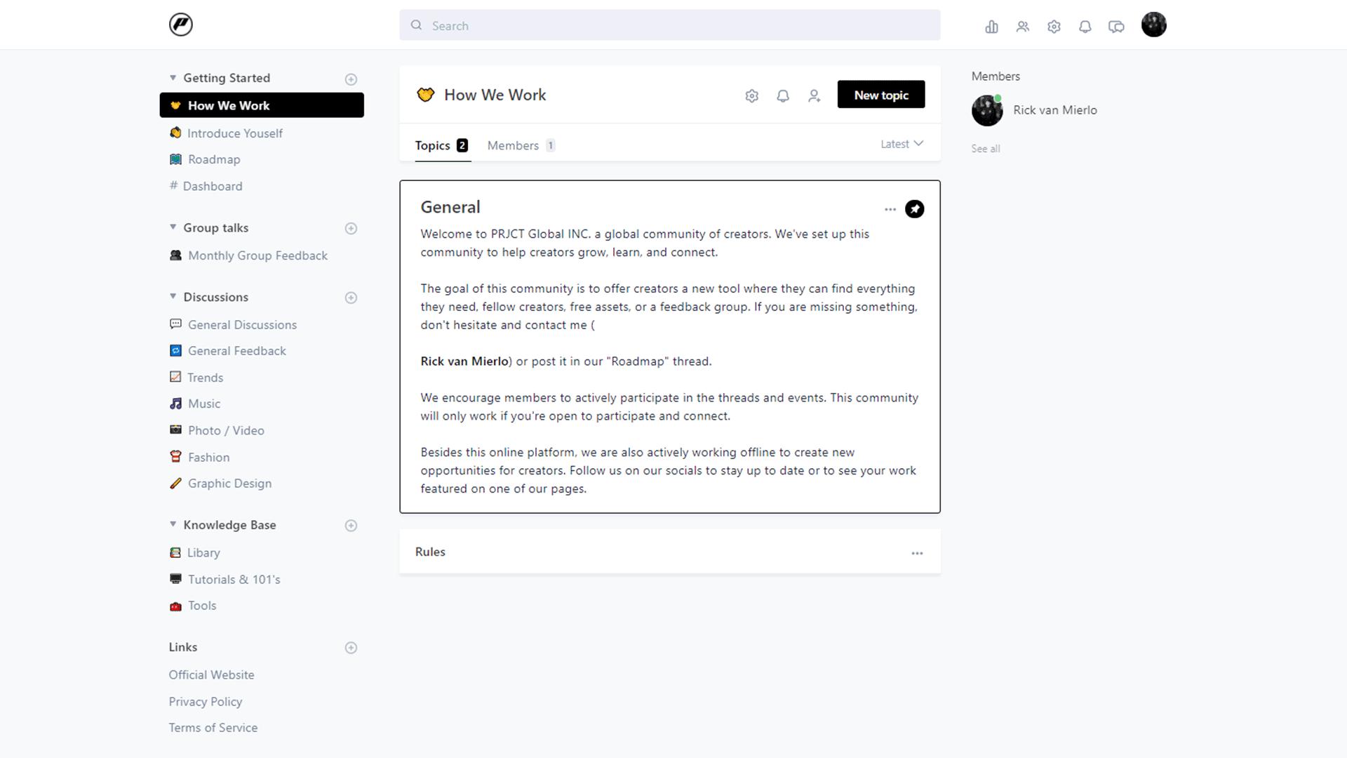 Community Platform Preview